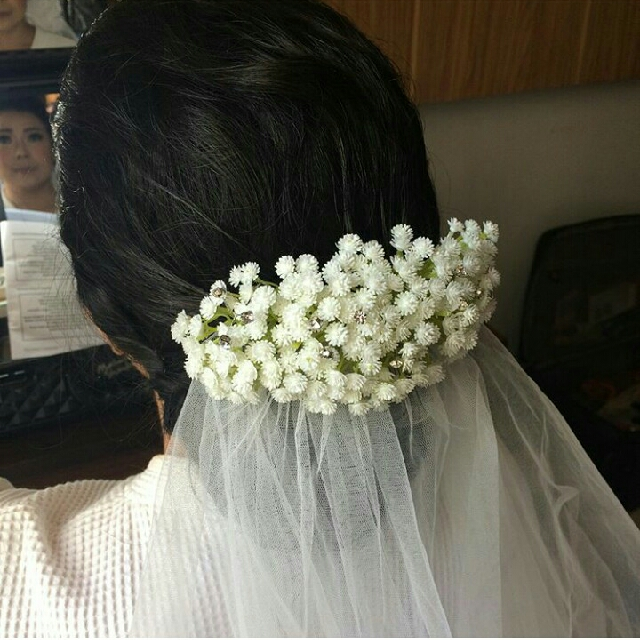 PRELOVED HAIR PIECE - HEAD PIECE - HAIR COMB BABY BREATH