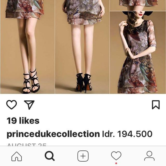 prince dress burung merak