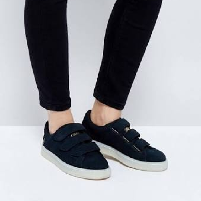 Puma X Careaux Basket Strap Sneakers In Black