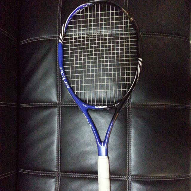 Raket tennis Wilson - FOUR BLX, Sports, Other Sports Equipment on Carousell