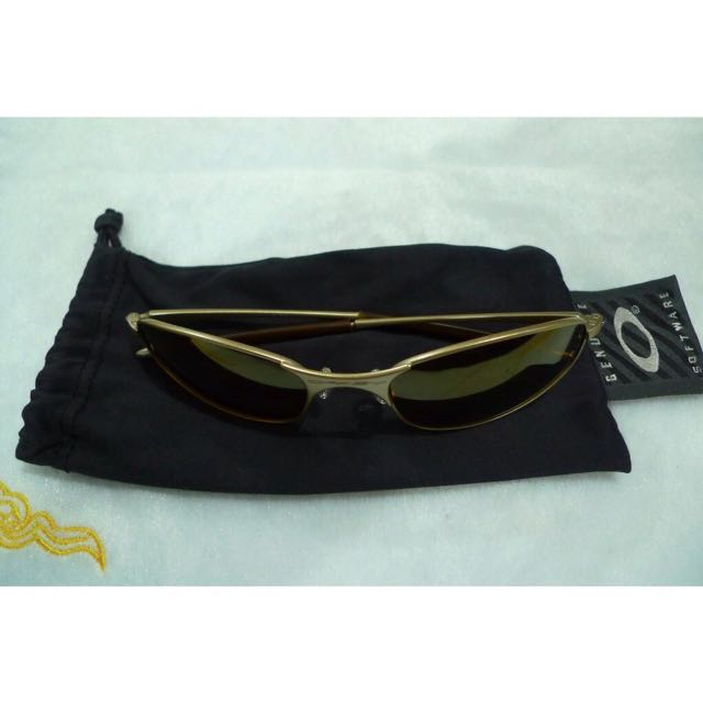 002ce903a8f83 ... low cost rare vintage authentic oakley a wire gold iridium sunglasses  mens fashion accessories on carousell