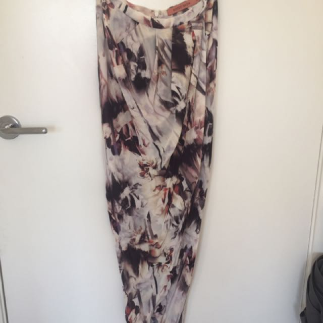 Rodeo show floral skirt