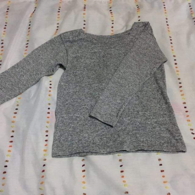 ‼️SALE‼️Gray Knitted Long Sleeves
