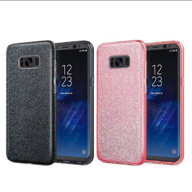 Samsung S8 glitter case