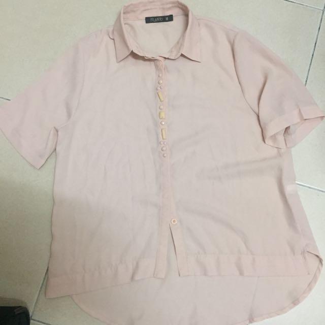 Sheer shirt tops