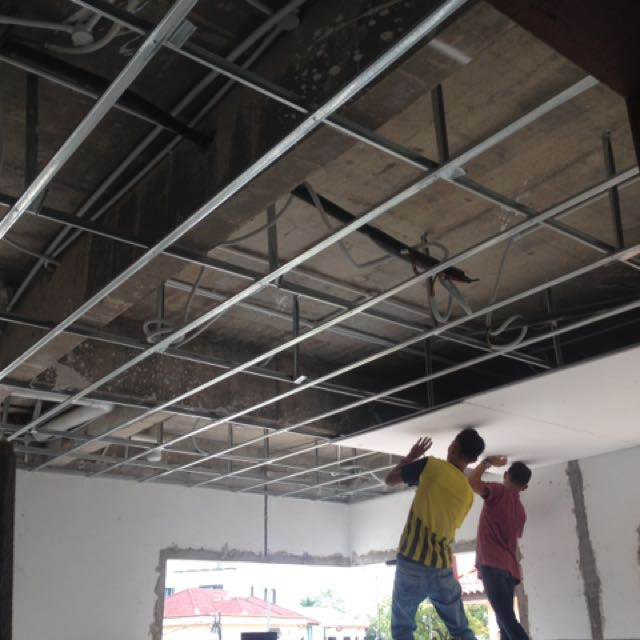 Siling Kapur Plaster Ceiling Renovation Rumah Perabot Others Di Carou