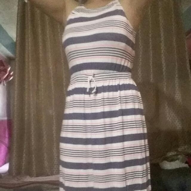 Stripe Long Dress