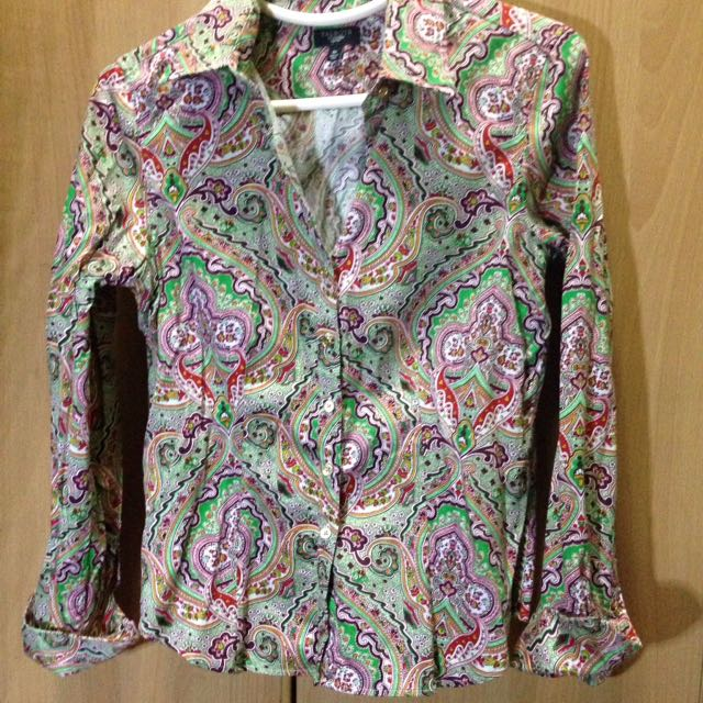 Talbots Paisely Longsleeve