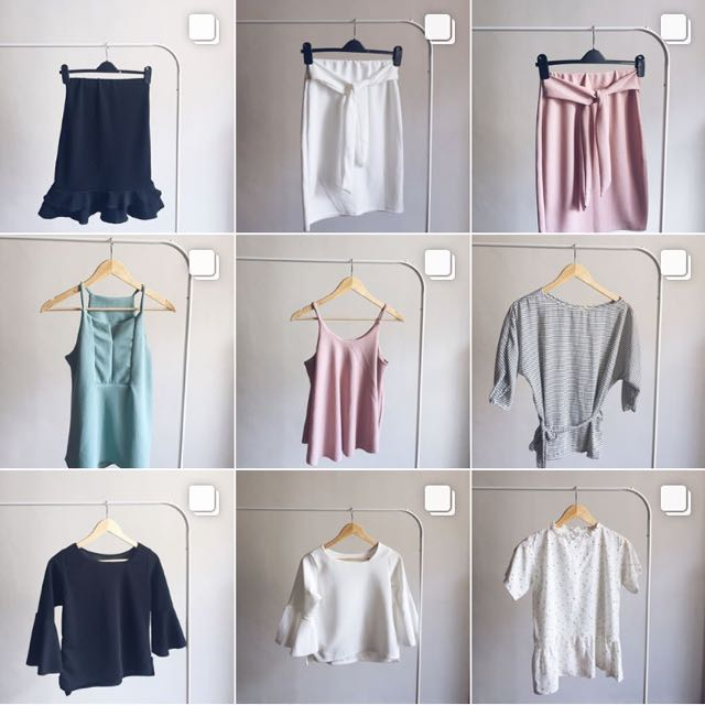 tops, skirts and dresses!