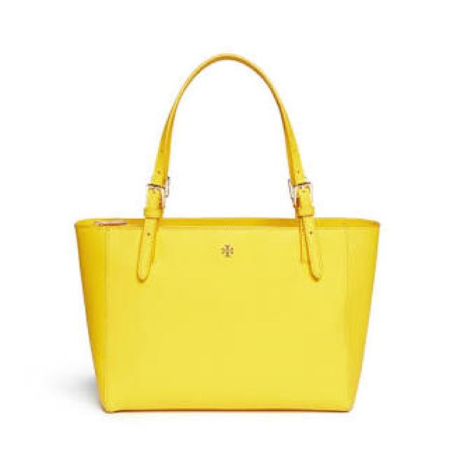 Tory burch york yellow tote
