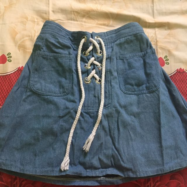 Unbranded: Denim flare skirt