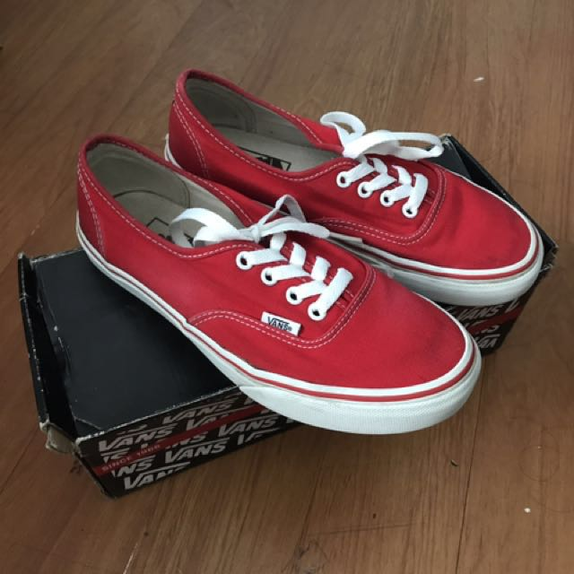 4fc4c7f54297 VANS OFF THE WALL Red Skater Shoes