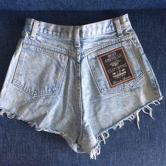 Vintage denim high waist shorts, circa 1903