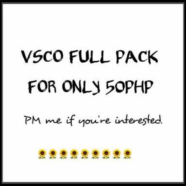 VSCO Full Pack ❤️