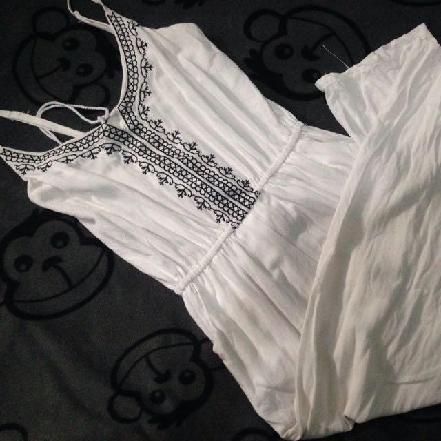 White Boho Jumpsuit