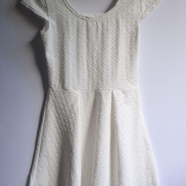 White embossed dress