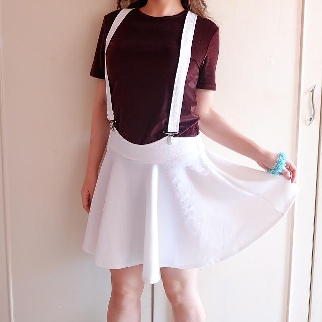 White Pinafore Skirt