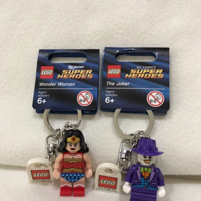 Wonder Woman & Joker Lego Keychain