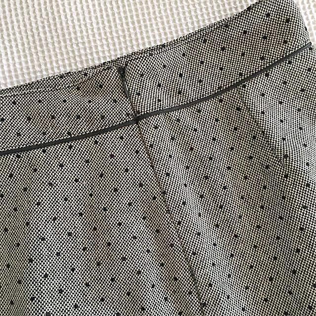 Wool grey and black polka dot pencil skirt
