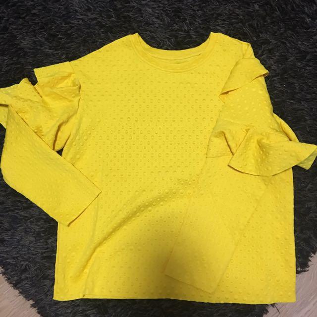 Yellow LS Top