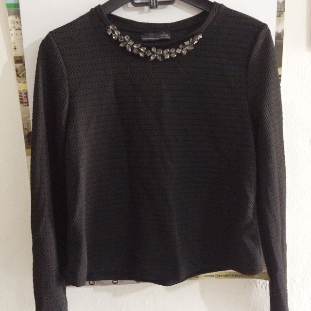 Zara blouse shirt black