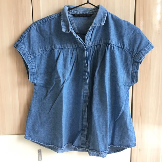 Zara jeans blouse