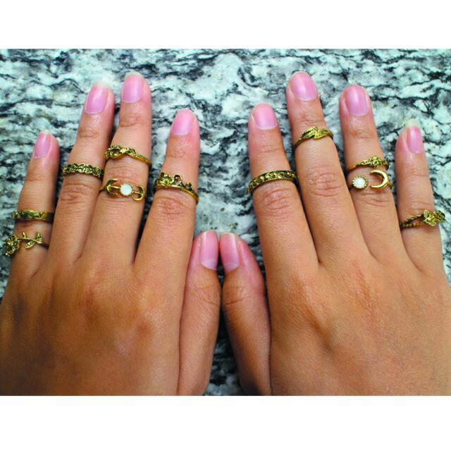 ZIGGY RINGS GOLD by Krasa