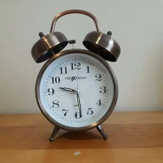 Brass Bell Alarm Clock - It Will Wake You Up!