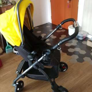 Silver Cross Wayfarer pram and pushchair - yellow and graphite