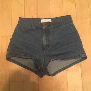 High waisted stretchy garage shorts