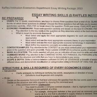 LASTMIN MUGGING : RAFFLES ECONS NOTES