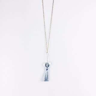銀流蘇魔女水晶球項鍊