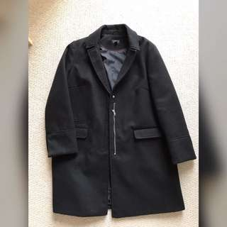 Topshop Black Coat(size:us8)