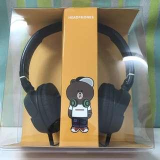 LineFriends熊大耳罩式耳機