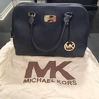 Micheal Kors Navy Blue Satchel