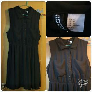 H & M 女裝黑色連身裙