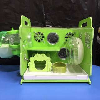 Instock New 26cm Acrylic Hamster Cage with tray