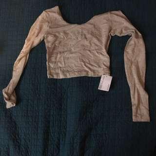 American Apparel XS long sleeve crop top (never worn)
