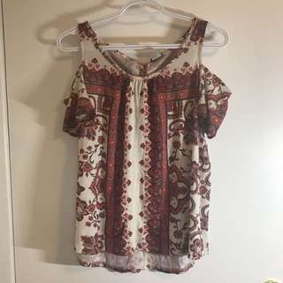 Lucky Jeans Cold Shoulder Shirt