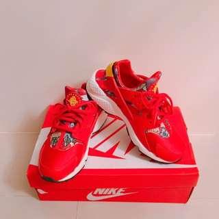 正品NIKE 紅色 扶桑花 武士鞋 尺寸6(23cm)