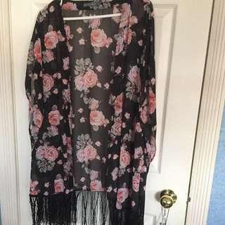 Suzy Rose Fringe Kimono