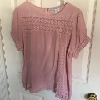Apple and Eve Blush Pink Blouse