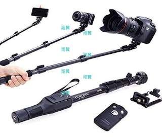 翔翼3c配件: YT-1288鋁合金自拍桿+可調焦藍牙遙控 可站立 可直拍 手機相機通用 自拍棒 (直購價:279元)
