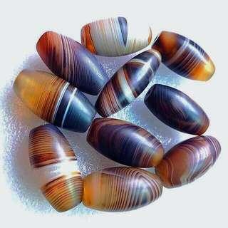 Dzi Agate Beads