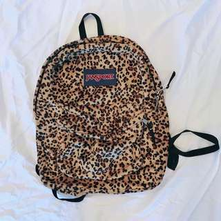 Jansport Leopard Fur Print Backpack