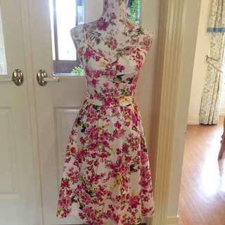 Bright floral Basque Dress