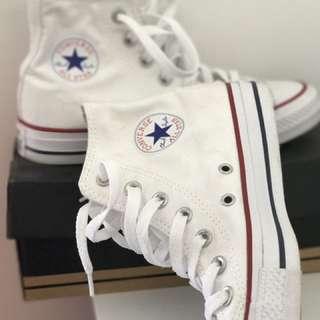Converse White Hightops (Authentic)
