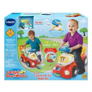Vtech Go! Go! Smart Wheels® Launch & Go Ride On™ Interactive Learning Toy - English