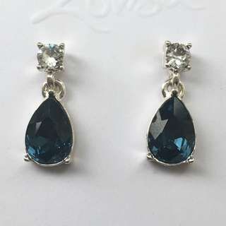 Lovisa Blue Stone earrings Embellished With Crystals From Swarovski