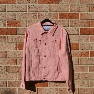 Bright Pink Denim Jacket - FREE POSTAGE AUS WIDE